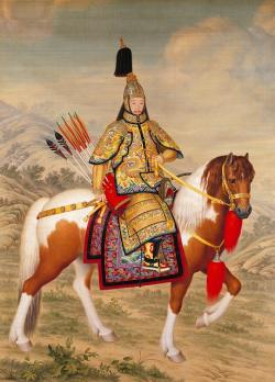 emperor, china, chinese, qianlong, horse, reiter
