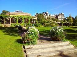 england, building, flowers, garden, valley gardens