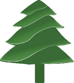 evergreen, simple, plants, tree, recreation, cartoon