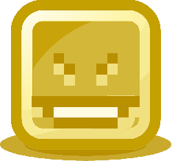 evil grin, laughing, smiley, computer, pixelated