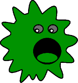 eyes, computer, black, green, virus, face, cartoon