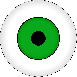 eyes, eye, green, part, cartoon, round, eyeball, fish