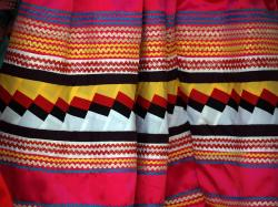 fabric, colorful, zigzag, cloth, tissue, textiles