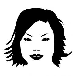 face, drawing, vector, line, female, head, makeup
