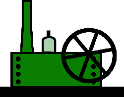factory, cartoon, plant, machine, machines