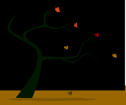 fall, silhouette, autumn
