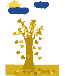 fall, without, leaf, tree, cartoon, from, free, trees