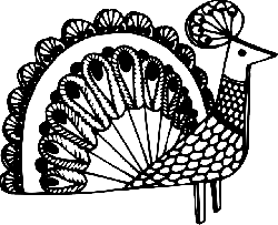fancy, drawing, bird, art, decorative, peacock