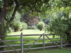 fence, split rail, farm, old, rustic, field, landscape