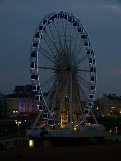 ferris wheel, beach, brighton, sea, east sussex