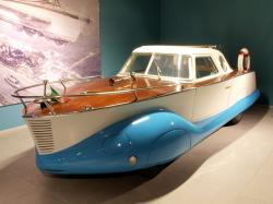 fiat boat car, 1953, car, automobile, engine