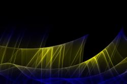 filigree, fractal, digital art, artwork, yellow, blue
