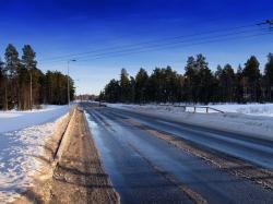 finland, road, landscape, scenic, winter, snow, ice