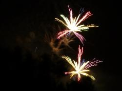 firework, rocket, color, night, sylvester, explosion