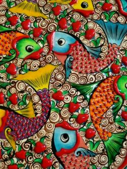 fish, colorful, ceramic, color, pets