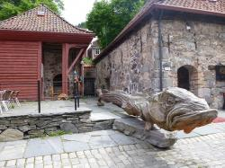 fish, old houses, tradition, denmark, sculpture, museum