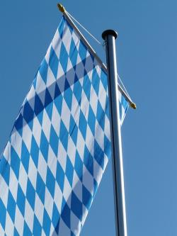 flag, bavaria, flagge, blow, flutter, sky, blue, white