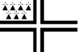 flag, black, symbol, cross, white, triangles, ermine