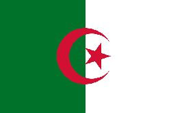 flag, green, africa, north, star, white, crescent, arab