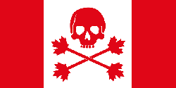 flag, red, canada, skull, white, cartoon, bones, flags