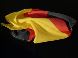 flag, rumpled, germany, black, red, gold