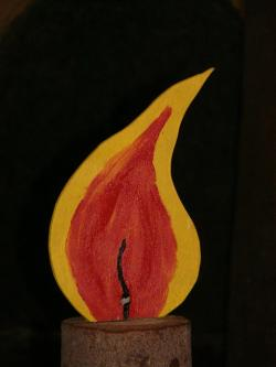 flame, candle, christmas, light, wood, cut, plywood