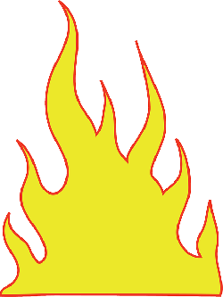flames, burning, heat, warm, blaze, simple, yellow