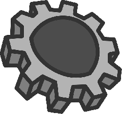 flat, cog, theme, gear, device, icon