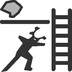flat, construction, theme, ladder, production, icon