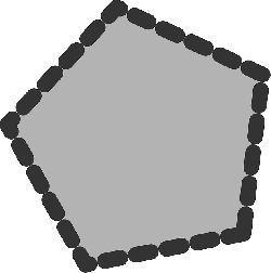 flat, drawing, polygon, draw, dotted, icon, dot