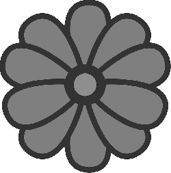 flat, flower, theme, action, icon
