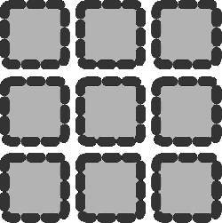 flat, grid, theme, action, matrix, icon