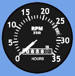 flat, icon, cartoon, airplane, rpm, aircraft, cessna