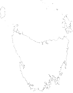 flat, icon, outline, map, tasmania, drawing, blank