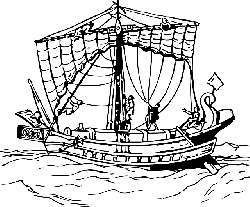 flat, icon, ship, boat, sails, sail