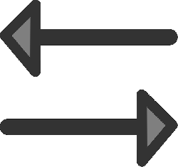 flat, left, right, arrow, opposite, arrows, heads