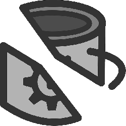 flat, mug, theme, broken, action, icon