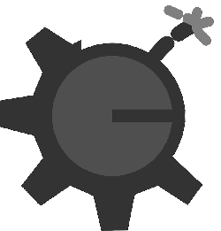 flat, theme, broken, gear, icon