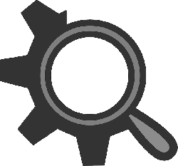 flat, theme, gear, search, icon