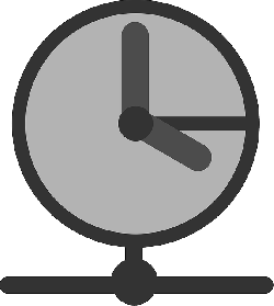 flat, time, clock, watch, theme, icon