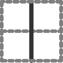 flat, vertical, square, border, grey, dotted, icon, dot
