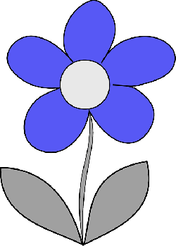 flower, daisy, simple, blue, leaves