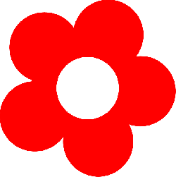 flower, red, bloom, blossom, simple, petals
