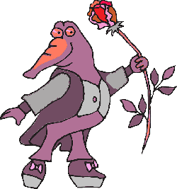flower, rose, clothing, suit, standing, alligator, with