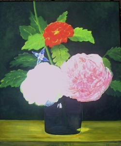 flowers, bueten, bouquet, painting, image, art, paint