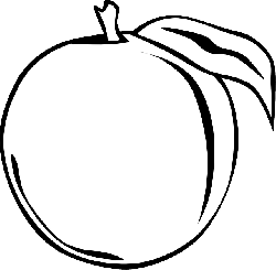food, fruit, tree, cartoon, peach, plant, peaches