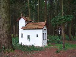 forest, trees, woods, church, miniature, small