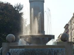 fountain, water, cuneo, decoration, stone, large