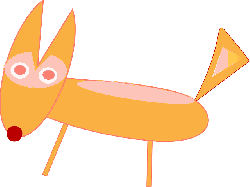 fox, animal, simple