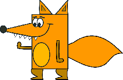 fox, cartoon, funny, tail, teeth, snout